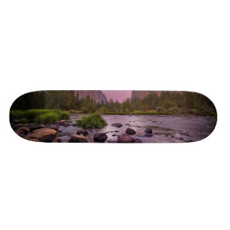 Yosemite National Park at Dusk Skateboard Deck