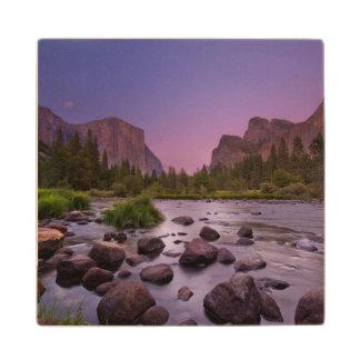 Yosemite National Park at Dusk Wood Coaster