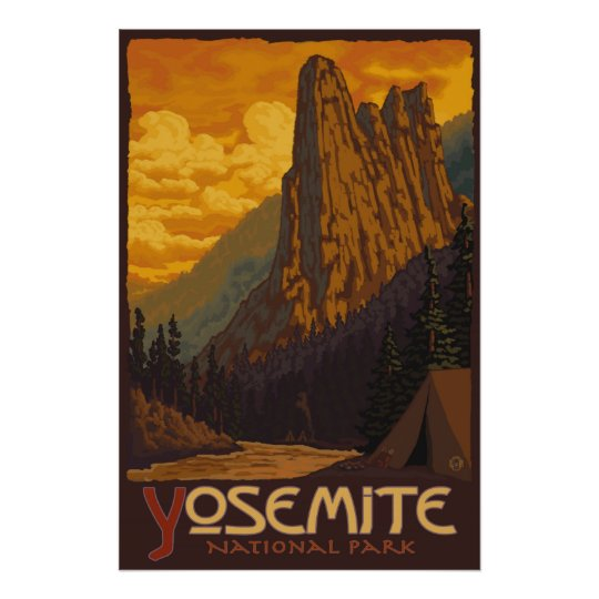 Yosemite National Park, CA - Sentinel Rock Poster
