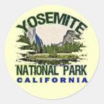 Yosemite National Park, California Classic Round Sticker