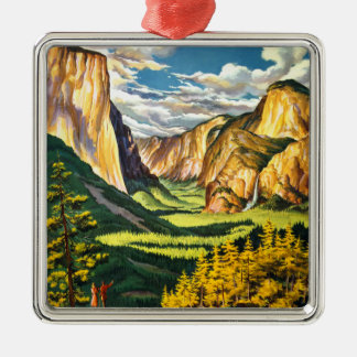 Yosemite National Park California Travel Art Christmas Ornament
