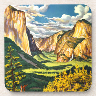 Yosemite National Park California Travel Art Coaster