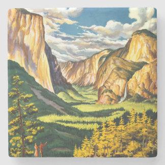 Yosemite National Park California Travel Art Stone Coaster