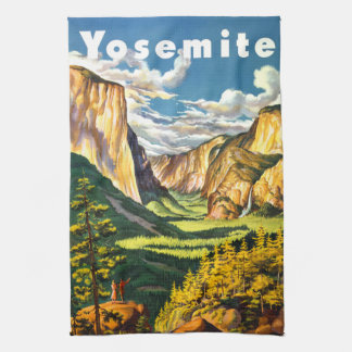 Yosemite National Park California Travel Art Tea Towel