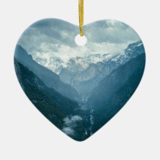 Yosemite national park ceramic heart decoration
