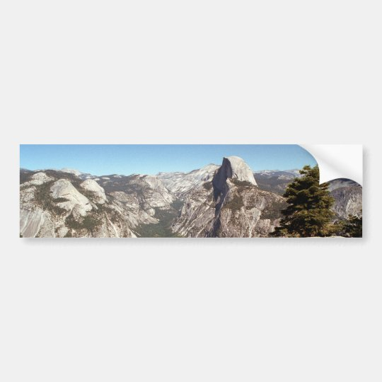 Yosemite National Park, Half Dome Mountain, USA Bumper Sticker