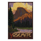 Yosemite National Park - Half Dome Travel Poster