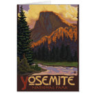 Yosemite National Park - Half Dome Travel Poster Card