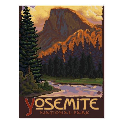 Yosemite National Park - Half Dome Travel Poster Postcard