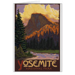 Yosemite National Park - Half Dome - Vintage Greeting Card