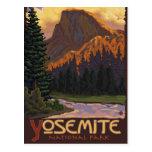 Yosemite National Park - Half Dome - Vintage Postcard