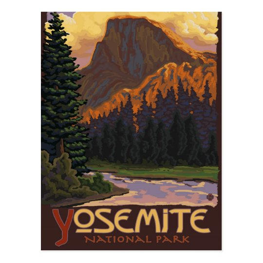 Yosemite National Park - Half Dome - Vintage