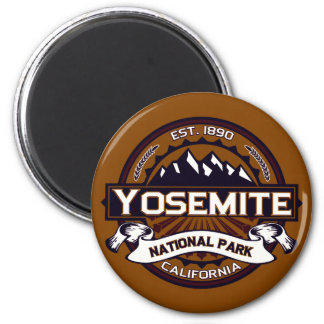 Yosemite National Park Logo 6 Cm Round Magnet