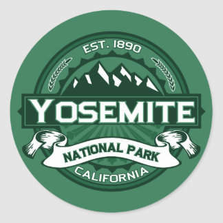 Yosemite National Park Logo Round Sticker