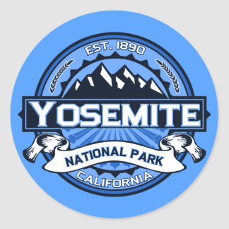 Yosemite National Park Logo Round Sticker