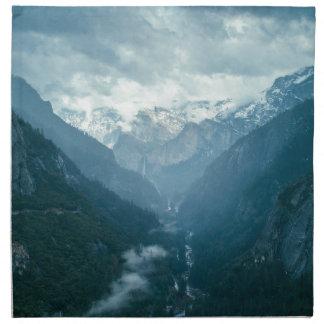 Yosemite national park napkin