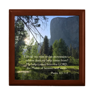 Yosemite National Park Psalm Jewelry Box