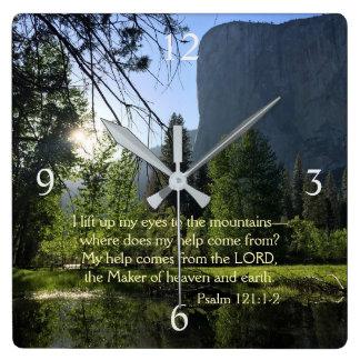 Yosemite National Park Psalm Wall Clock