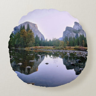 Yosemite National Park Round Cushion