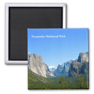 Yosemite National Park Square Magnet