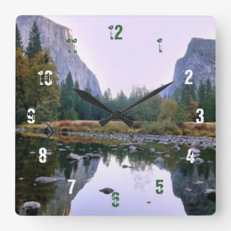 Yosemite National Park Square Wall Clock