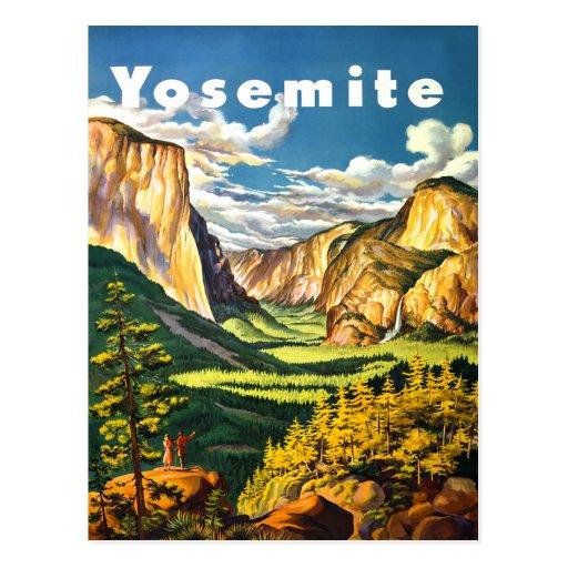 Yosemite National Park Travel Art Postcards