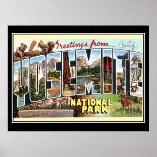 Yosemite national park Vintage Poster Poster