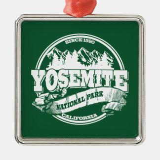 Yosemite Old Circle Green Christmas Ornament