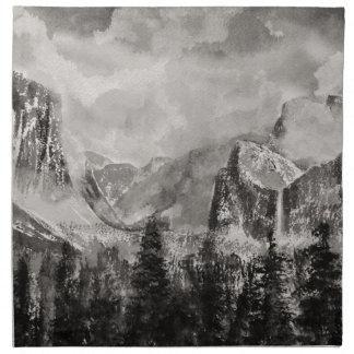 Yosemite Park in Winter Napkin