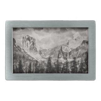 Yosemite Park in Winter Rectangular Belt Buckle