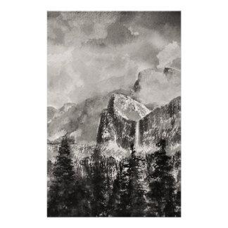 Yosemite Park in Winter Stationery
