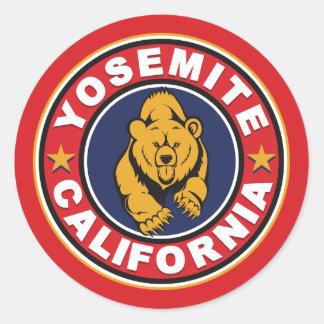 Yosemite Red Circle Round Sticker