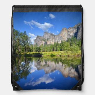 Yosemite Reflection Drawstring Bag