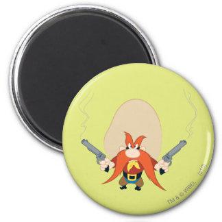 Yosemite Sam Back Off 6 Cm Round Magnet