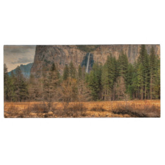 Yosemite Scenic Falls Wood USB 2.0 Flash Drive