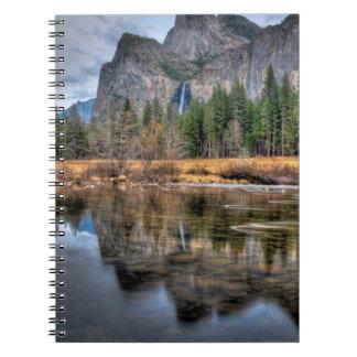 Yosemite Scenic Falls Spiral Notebook