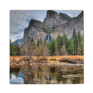Yosemite Scenic Falls Wood Coaster