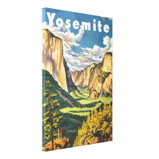 Yosemite Travel Art (Vector) Canvas Print