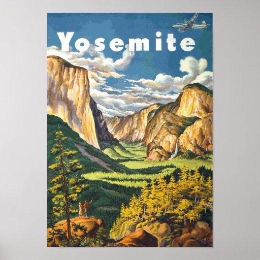Yosemite Travel Art (Vector) Posters