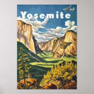 Yosemite Travel Art Vector Posters
