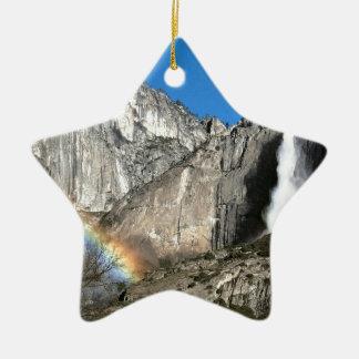 Yosemite Upper Falls Rainbow Christmas Ornament