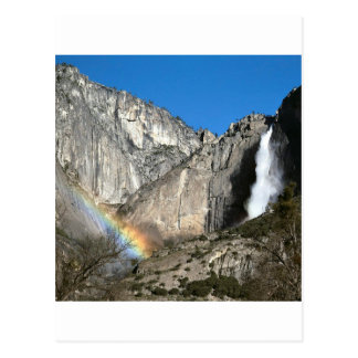 Yosemite Upper Falls Rainbow Post Card
