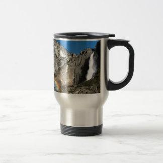 Yosemite Upper Falls Rainbow Travel Mug