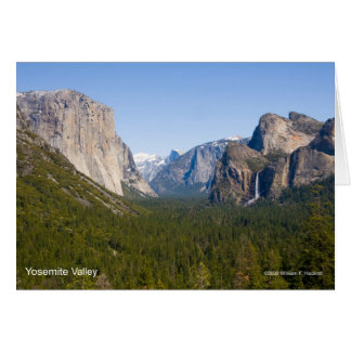 Yosemite Valley April California Products Card