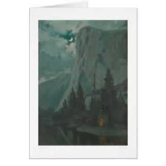 Yosemite Valley by moonlight, Calif. (1215) Card