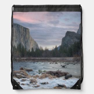 Yosemite Valley Drawstring Bag