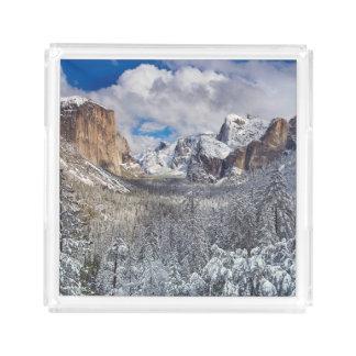 Yosemite Valley in Snow Acrylic Tray