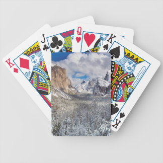 Yosemite Valley in Snow Bicycle Playing Cards