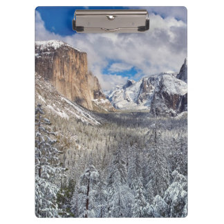 Yosemite Valley in Snow Clipboard