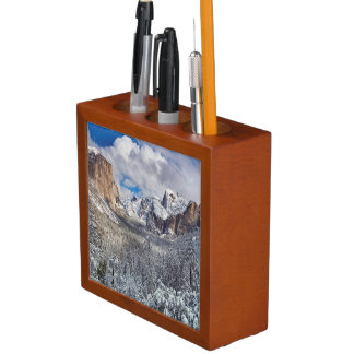 Yosemite Valley in Snow Desk Organiser